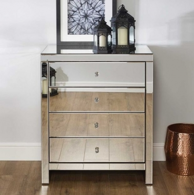 Belfast Mirrored 4 Drawer Chest