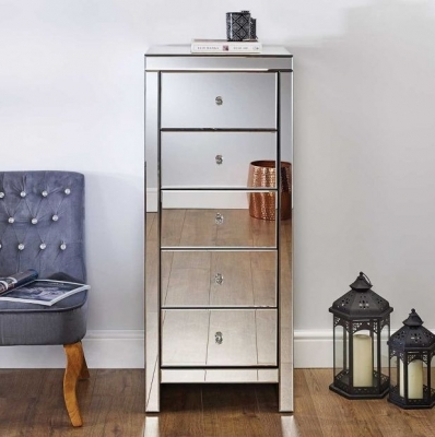 Belfast Mirrored 5 Drawer Chest