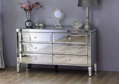 Coventry Mirrored 6 Drawer Chest