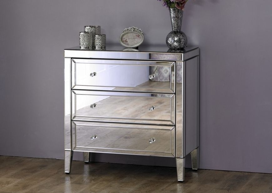 Coventry Mirrored 3 Drawer Chest