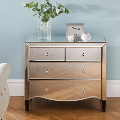 Norwich Mirrored 2+2 Drawer Chest