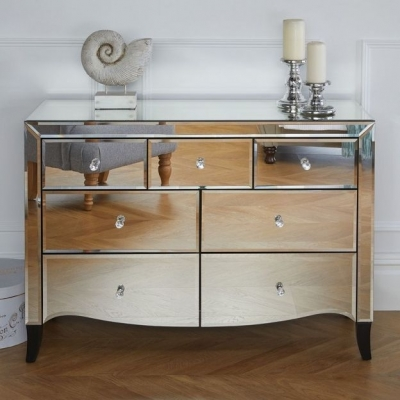 Norwich Mirrored 4+3 Drawer Chest