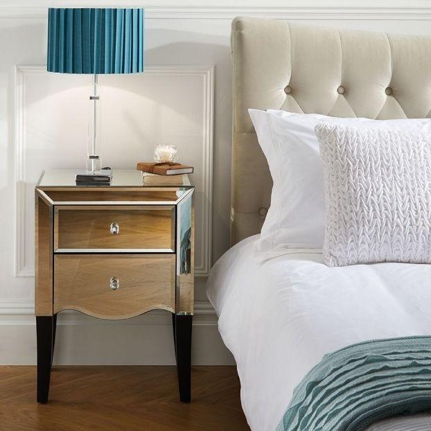 Norwich Mirrored Bedside Cabinet