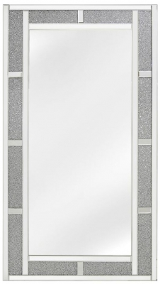 Acme Crystal Brick Effect Rectangular Wall Mirror