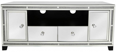 Acme Mirrored 2 Door Entertainment Unit