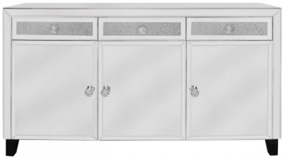 Acme Mirrored 3 Door 3 Drawer Sideboard