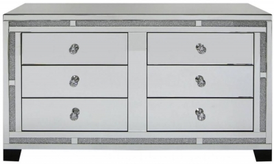 Acme Mirrored 6 Drawer Cabinet