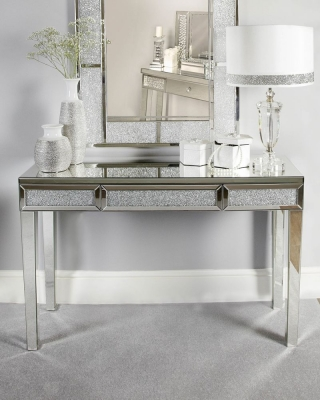 Acme Mirrored Bricks Console Table
