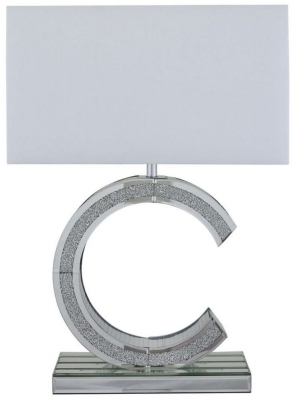 Acme Mirrored C Medium Premium Table Lamp