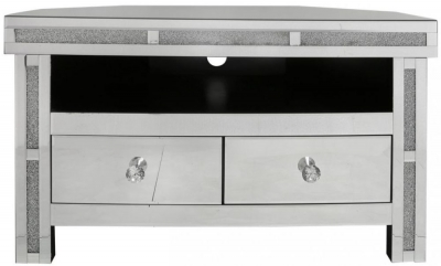 Acme Mirrored Corner Entertainment Unit