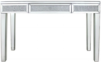Acme Mirrored Large Console Table