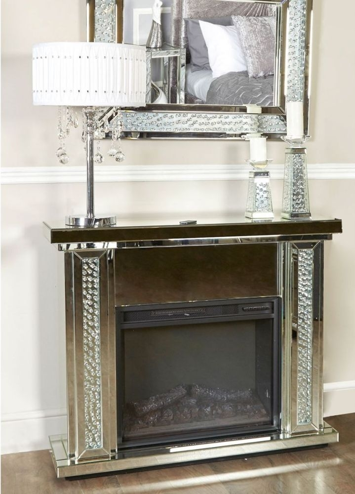 Acme Mirrored Fire Surround with Electric Fire (Set)