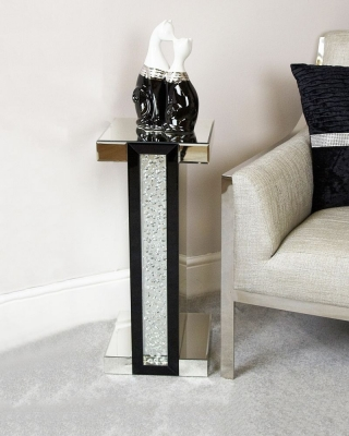Arielle Black Mirrored Telephone Table