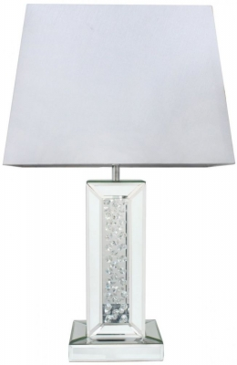 Arielle Mirrored Medium Pillar Table Lamp