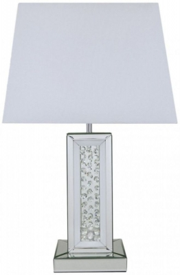 Arielle Mirrored Small Pillar Table Lamp