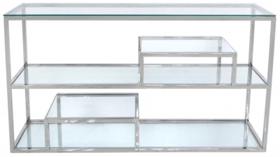 Arkansas Mirrored Tier Console Table