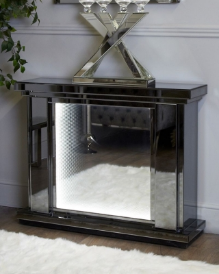 Avalon Smoked Mirrored Fire Surround