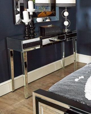 Boston Black Mirrored Dressing Table