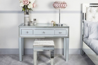 Boston Grey Mirrored Console Table