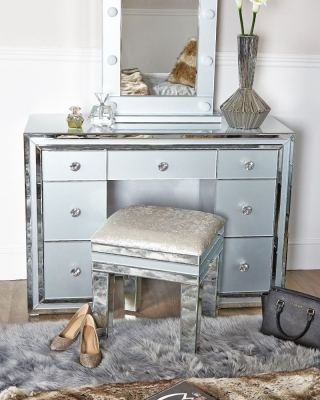 Boston Grey Mirrored Dressing Table