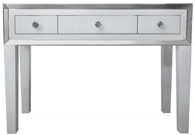 Boston White Mirrored 3 Drawer Dressing Table