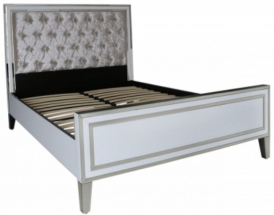 Boston White Mirrored 5ft King Size Bed Frame