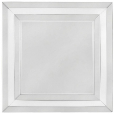 Boston White Square Wall Mirror