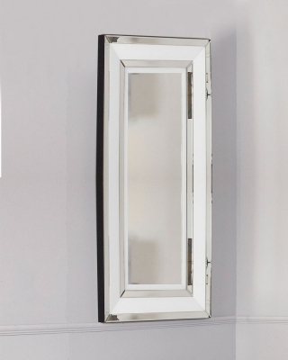 Boston White Tall Wall Mirror