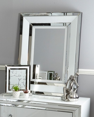 Boston White Wall Mirror