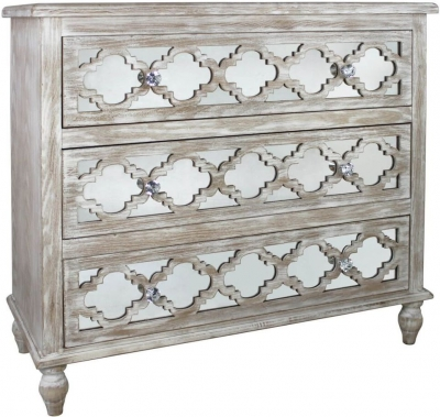 Catalina Beach Mirrored 3 Drawer Cabinet