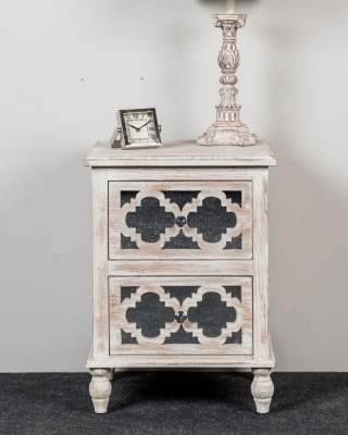 Catalina Beach Mirrored Bedside Cabinet