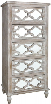 Catalina Beach Mirrored Tall Cabinet