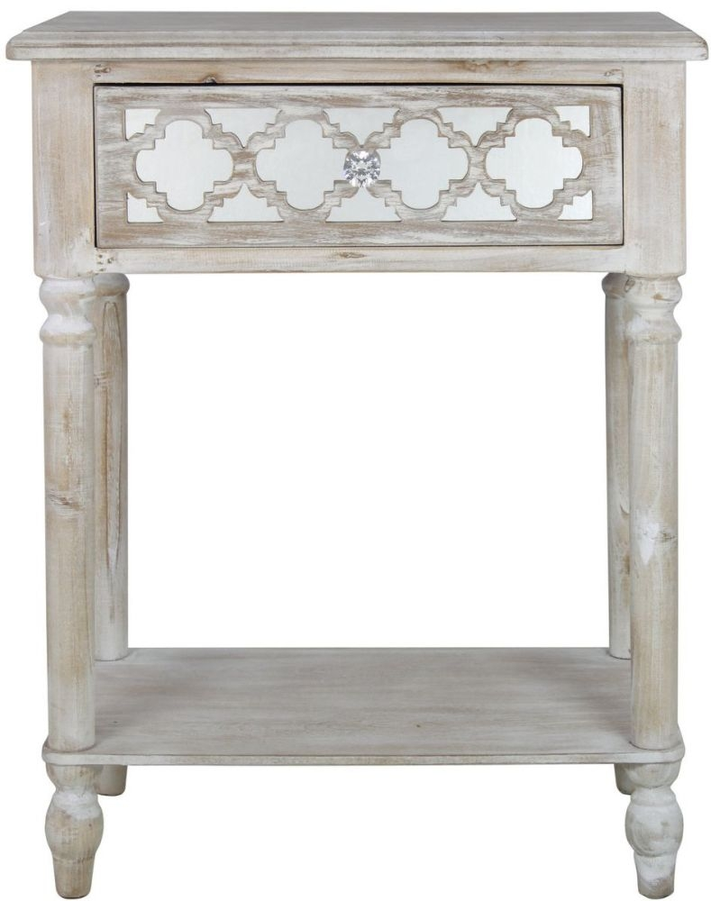 Catalina Beach Mirrored End Table