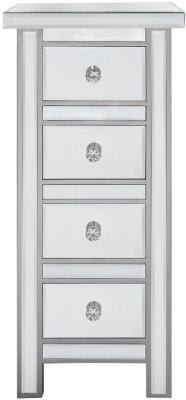 Charlotte Mirrored 4 Drawer Chest