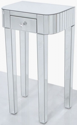 Charlotte Mirrored Large Lamp Table