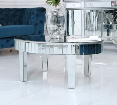 Charlotte Mirrored Oval Coffee Table