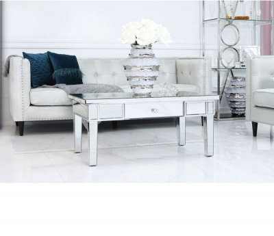 Charlotte Silver Mirrored Coffee Table