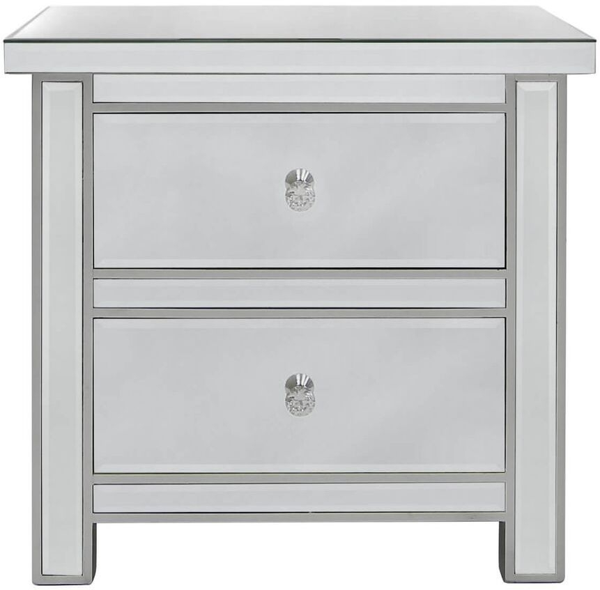 Charlotte Mirrored Bedside Cabinet