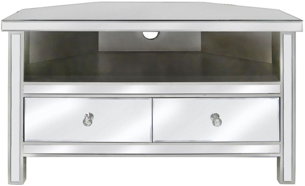 Charlotte Mirrored Corner Entertainment Unit