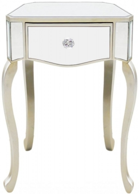 Chelsea Champagne Mirrored Small Lamp Table