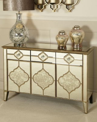 Durham Antique Mirrored Sideboard