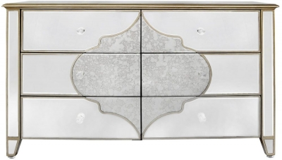 Durham Mirrored 6 Drawer Cabinet