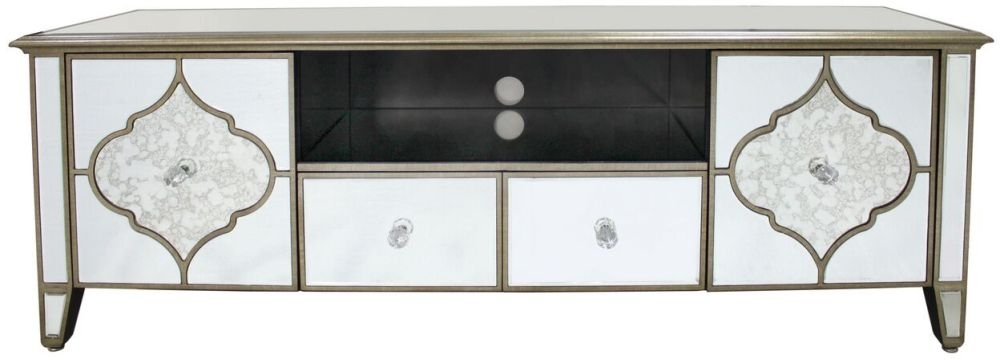 Durham Antique Mirrored Entertainment Unit