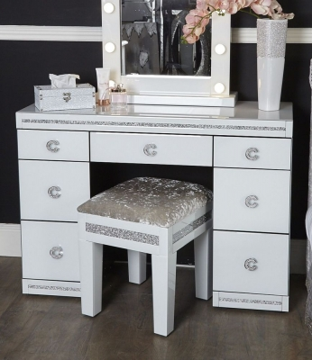 Easton White Mirrored Dressing Table