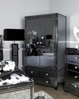Elana Mirrored 2 Door Wardrobe