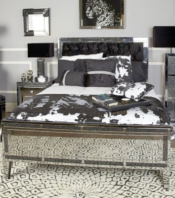 Elana Mirrored 5ft King Size Bed