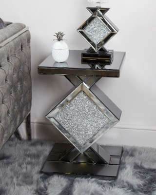 Elana Mirrored End Table