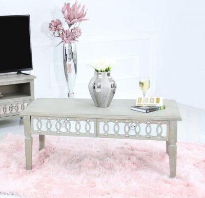 Farrah Mirrored Coffee Table