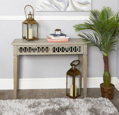 Farrah Mirrored Console Table