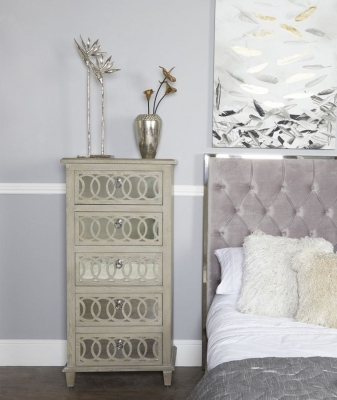 Farrah Mirrored Tallboy Cabinet
